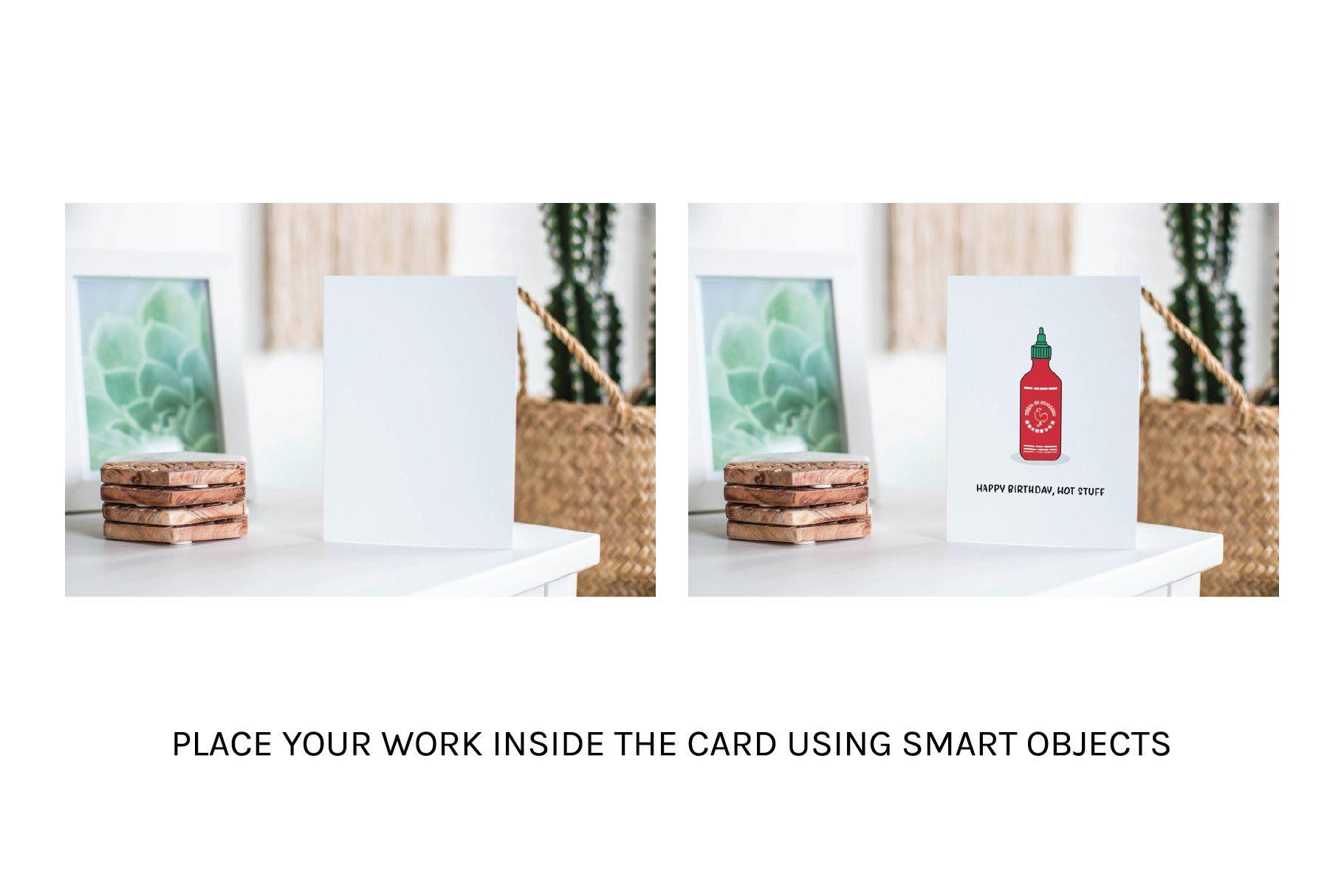 A7 Greeting Card Mockup Bundle Cards Postcard Mockup Greeting Cards