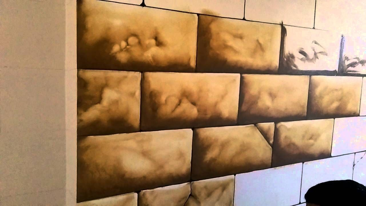 رسم حجر فرعوني How To Draw Tromploil Art Diy Wall Painting Wall Painting Cloud Painting