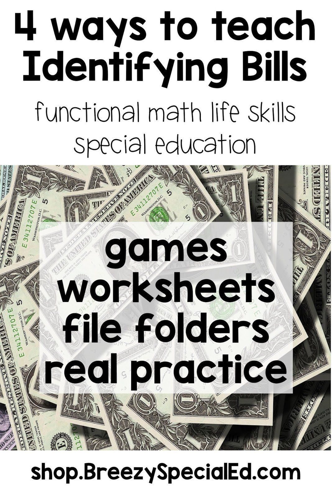 Functional Math Worksheets Special Education Making Money