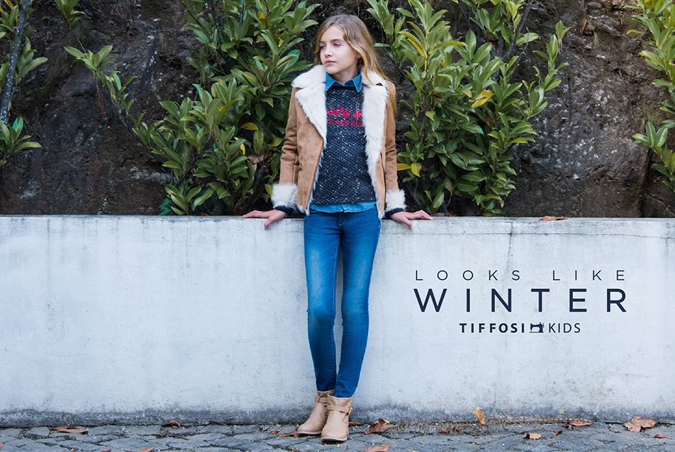 TIFFOSI KIDS | Looks Like Winter http://www.tiffosi.com/lookbook/kids.html #tiffosi #tiffosikids #jeans #denim #girlcollection #fw15 #fwcollection #collection #kids #trend