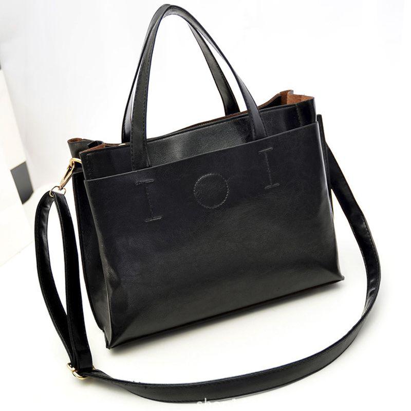 61842432b0b5 Women Bags Handbag messenger Tote Over Shoulder Crossbody Sling Summer  Leather Big Brand Black Letter Designer Female Bolsas    Be sure to check  out this ...