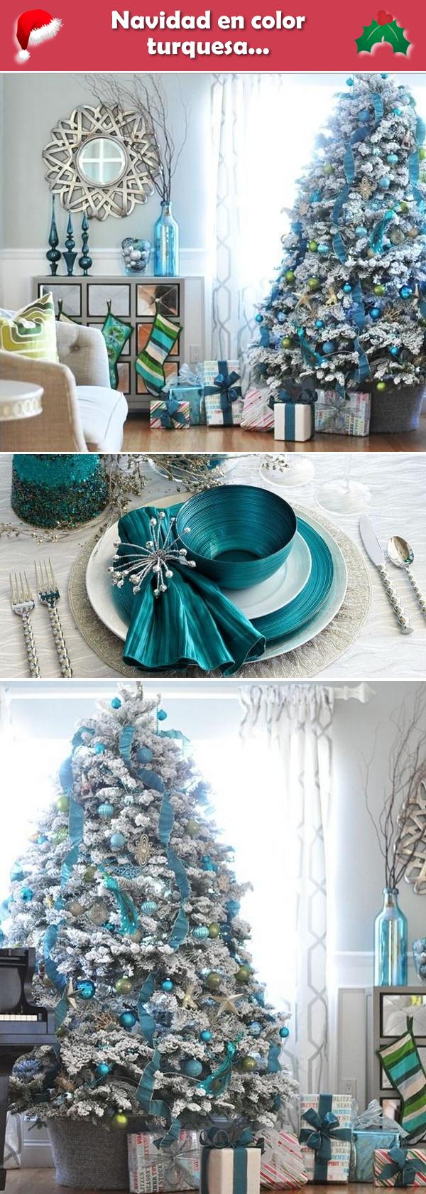 Navidad turquesa ideas para la decoraci n navide a en - Decoracion navidad moderna ...