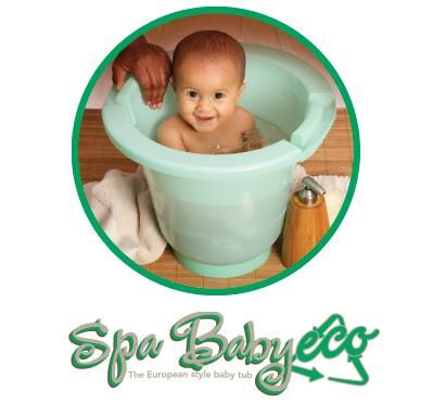 Spa Baby Eco Upright Bath Tub - Made in Canada from 100% Recycled ...