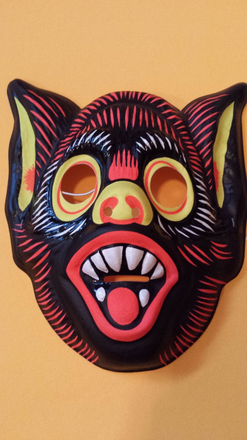 Vintage Witch Plastic Halloween Mask - we wore these kind of masks ...