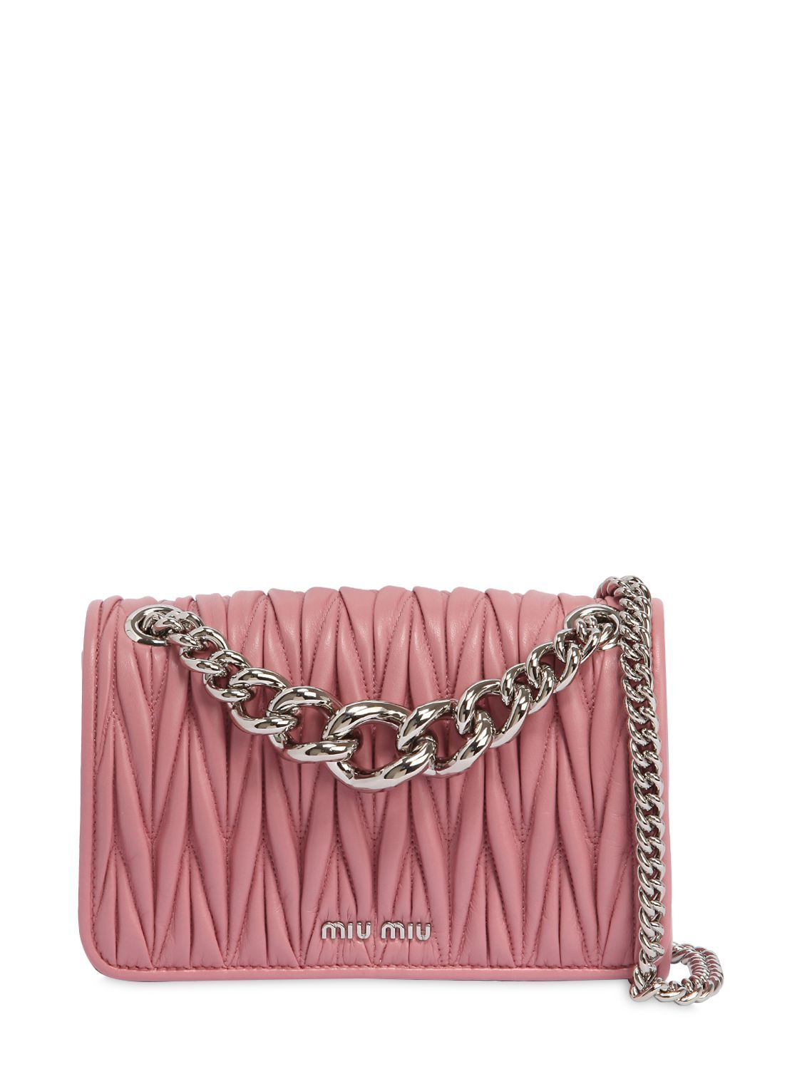 77ef41a9ee MIU MIU CLUB QUILTED LEATHER SHOULDER BAG. #miumiu #bags #shoulder bags  #leather #
