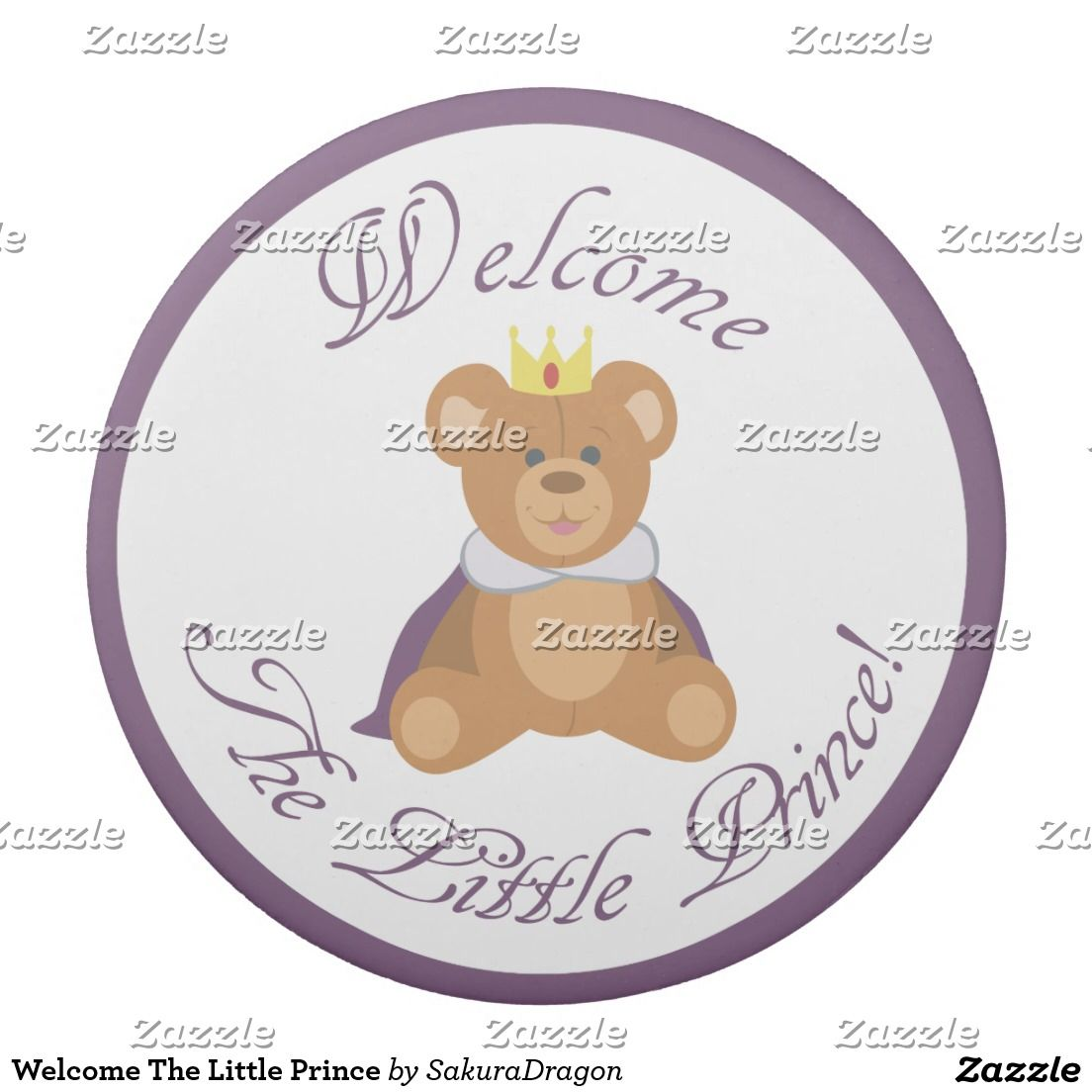 Welcome The Little Prince Eraser #teddy #babyshower #baby #prince #boy