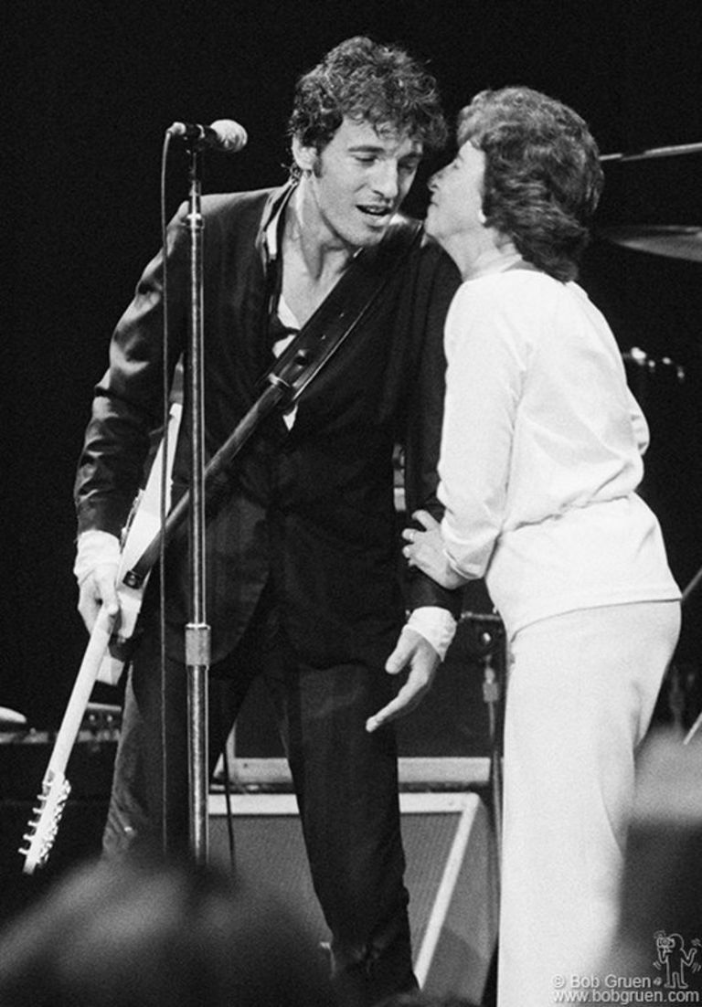 Bruce Springsteen And His Mother On Stage At Madison Square Garden Nyc Aug 21 22 Or 23 1978