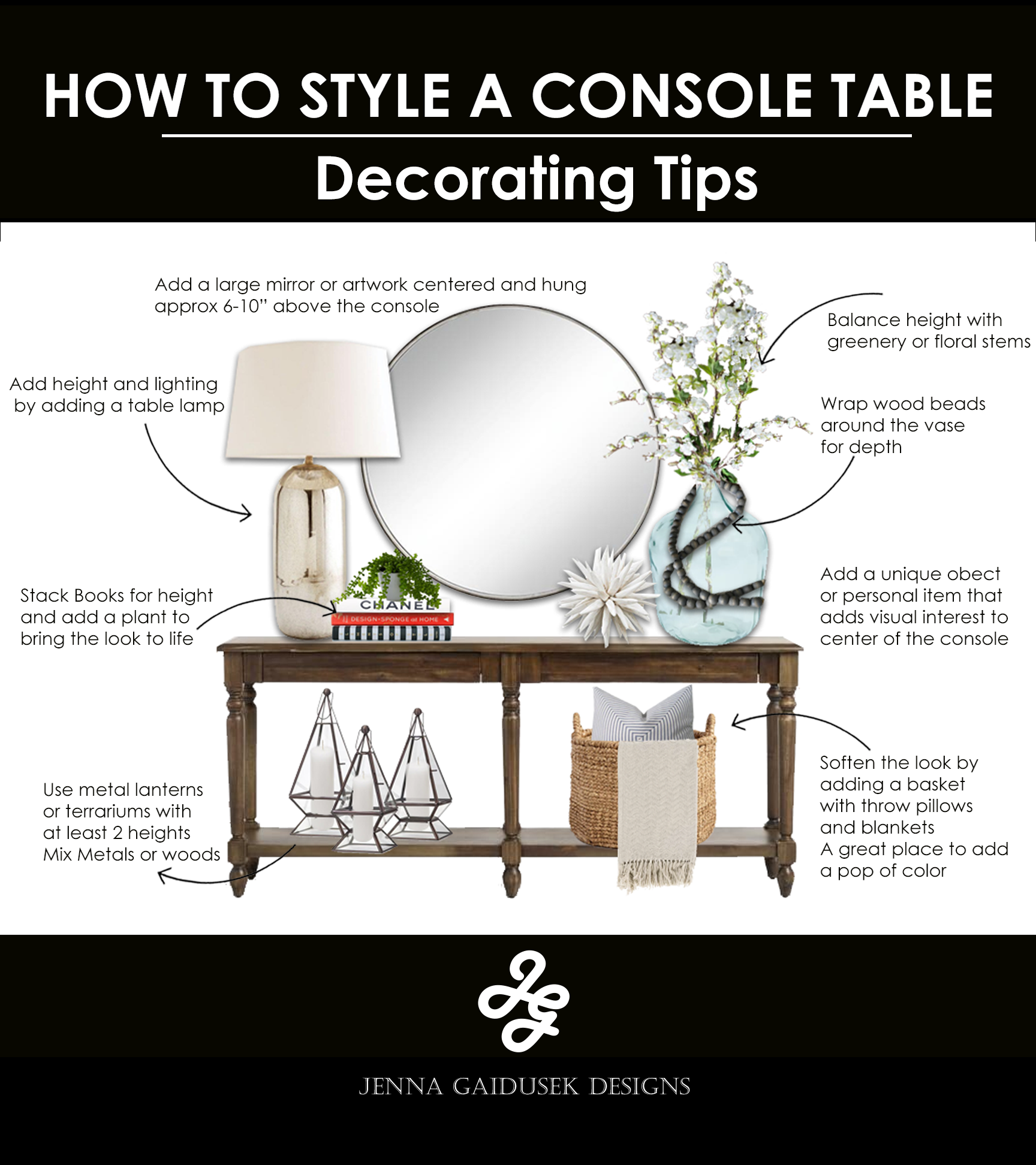 Photo of How to Decorate A Console Table — Jenna Gaidusek Designs