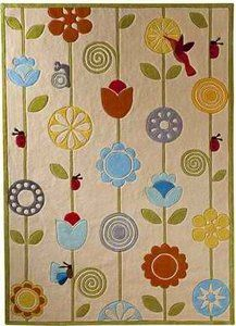 playroom rug---Momeni Lil Mo Whimsy Garde Rug – Ivory (4x6') | eBay