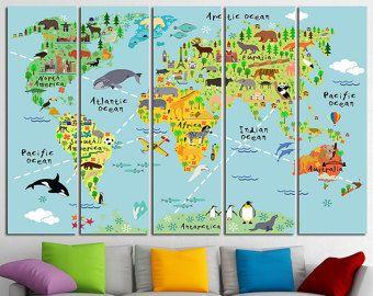 Nursery World Map Nursery Map Map For Kids World Map For Kids Kids - Kids wall map