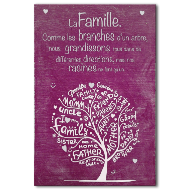 Tableau citation la famille … | + | Quote…