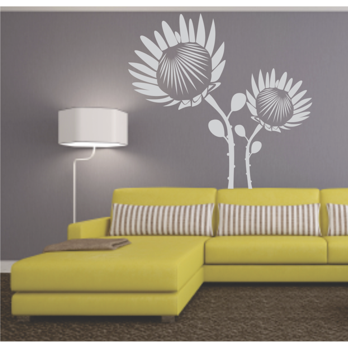 Wall Art / Wallsticker | Craft ideas - Protea Power | Pinterest ...