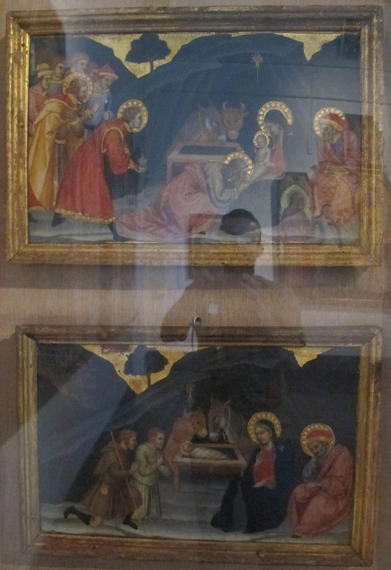 Taddeo di Bartolo - Adorazione dei magi e Adorazione dei pastori - Pinacoteca Nazionale, Siena