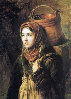 Константин Маковский. Селедочница. 1867