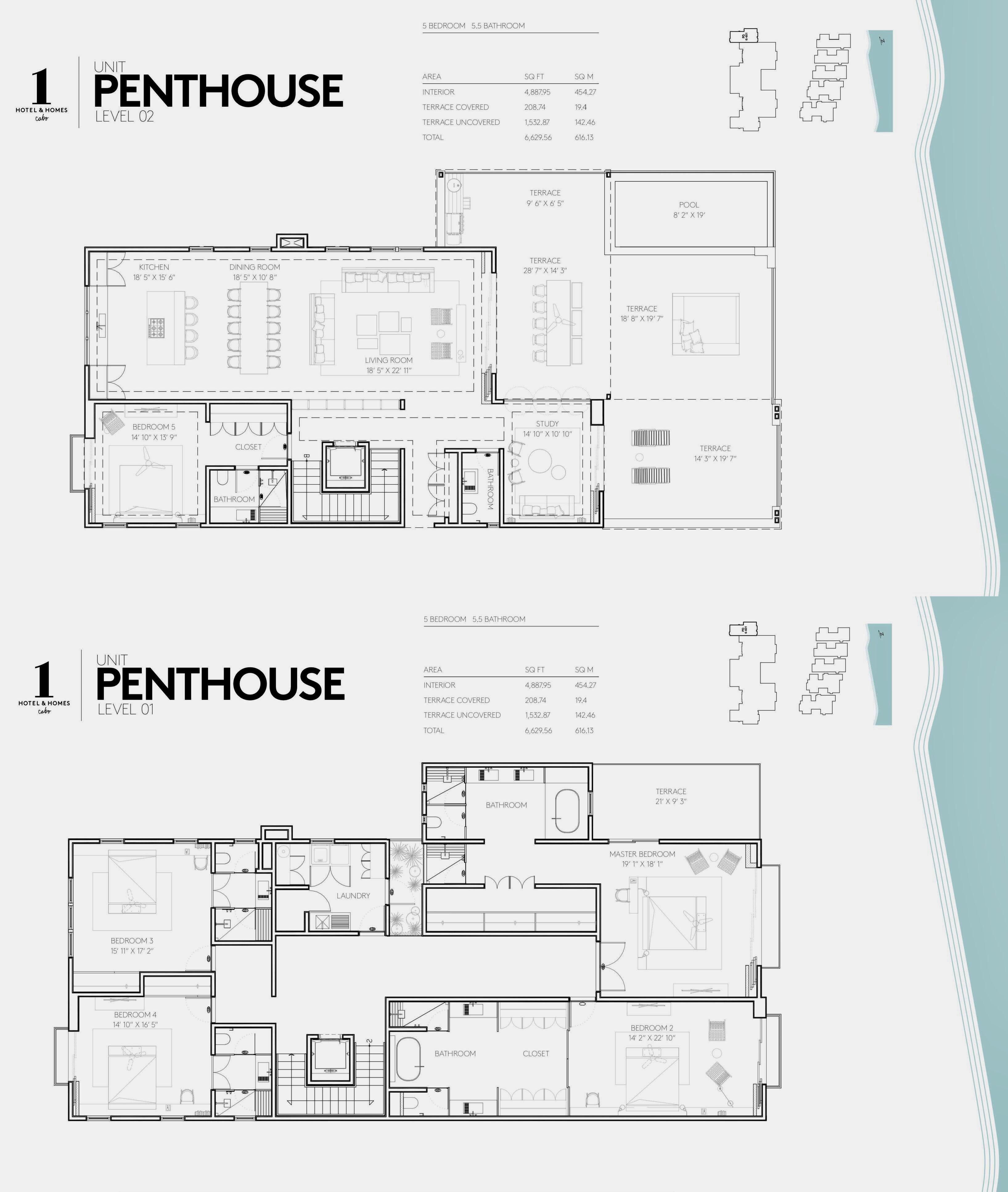 1 Hotel Homes Cabo Penthouse With Images Hotel Floor Plan