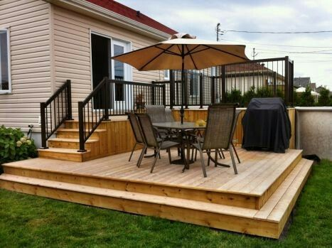Terraced Decks Deck Designs Backyard Backyard Patio Patio Design