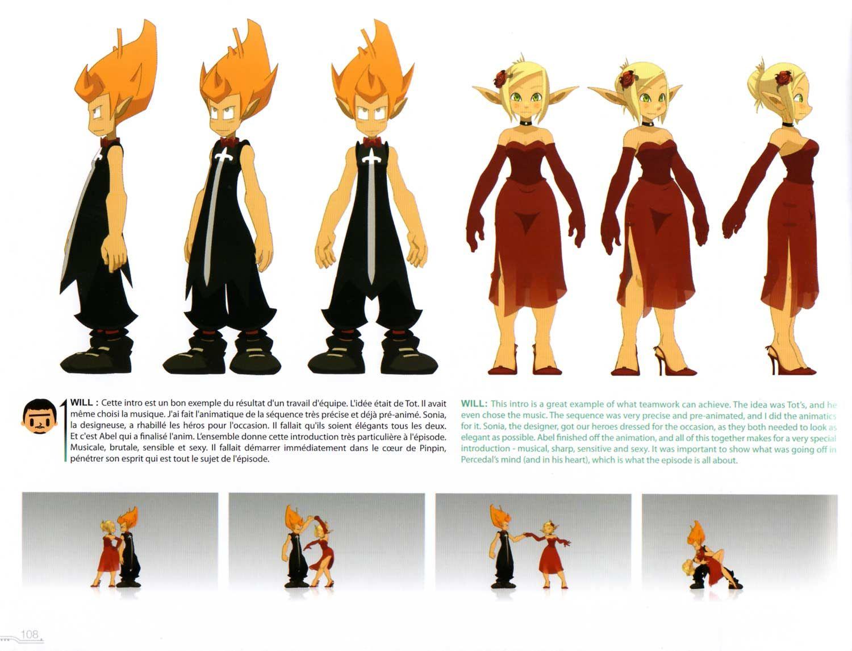 Character Design Artbook : Art book wakfu page g pixels