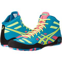 asics wrestling shoes yellow woman