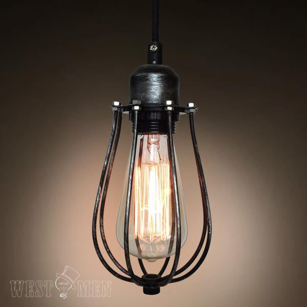 industrial squirrel cage pendant lamp single light | Industrial ...