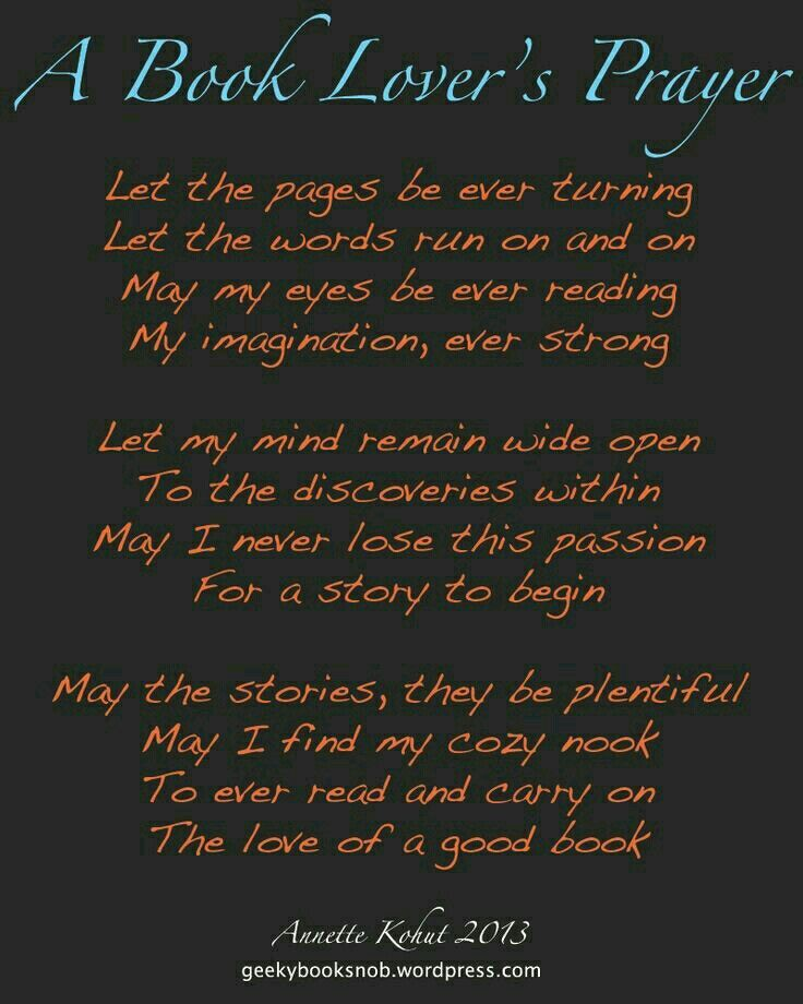 A book lovers prayer quotes for book lovers book