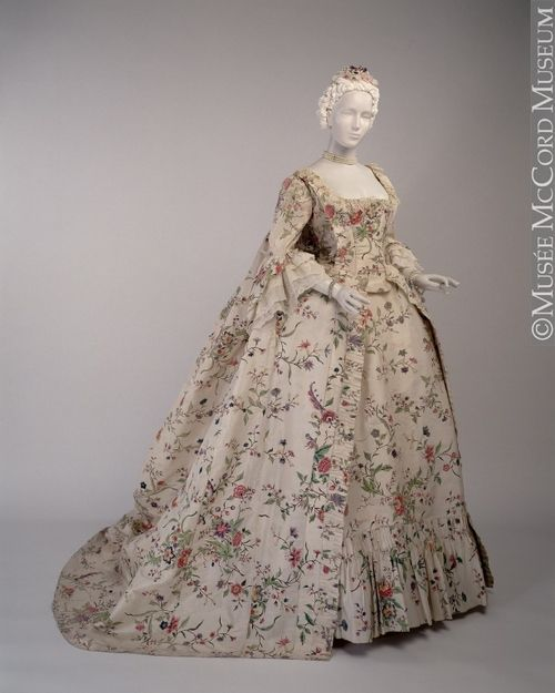 Wedding Gown, 1763. Robe A La Francaise. This Wedding