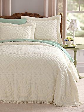 Heirloom Cotton Chenille Bedspread Blair Bedroom Vintage Bed