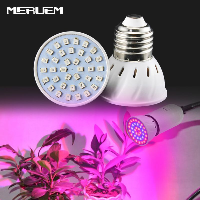 Spettro Completo Principale Coltiva E27 Lampadina Di Ca 220 V 36 54 72 Led Smd Indoor Piante Lampada Per Il Fiore Piantina Idroponica Sistema Tenda Flower Seedlings Led Lighting Home Plant Lighting