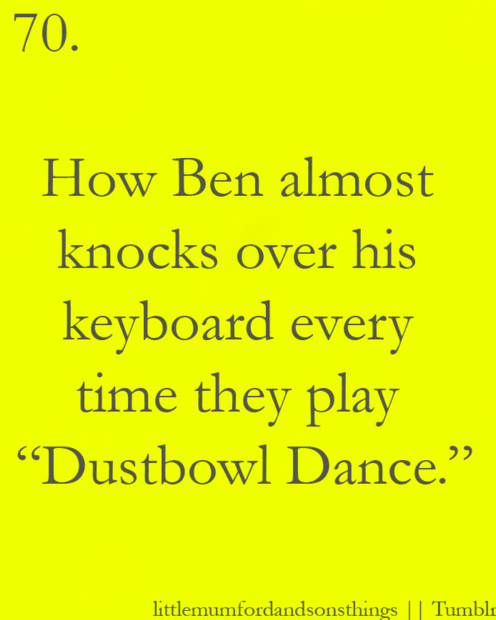 Benji is so passionate( Mumford & sons, Mumford and