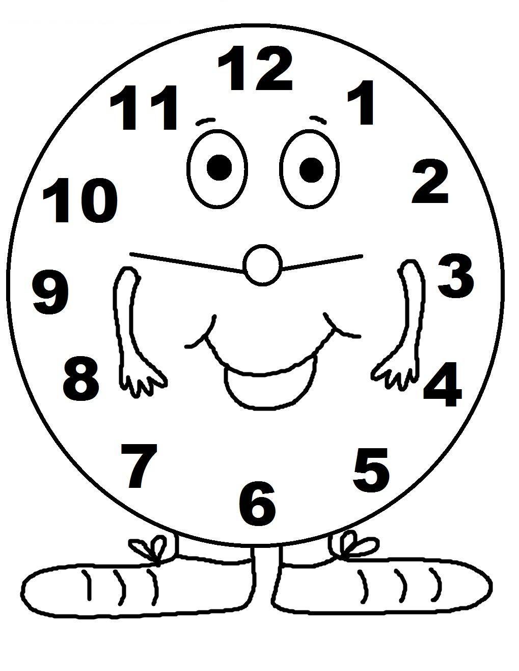 51 Coloring Page Clock Coloring Pages Coloring Pages For Kids Clock Printable
