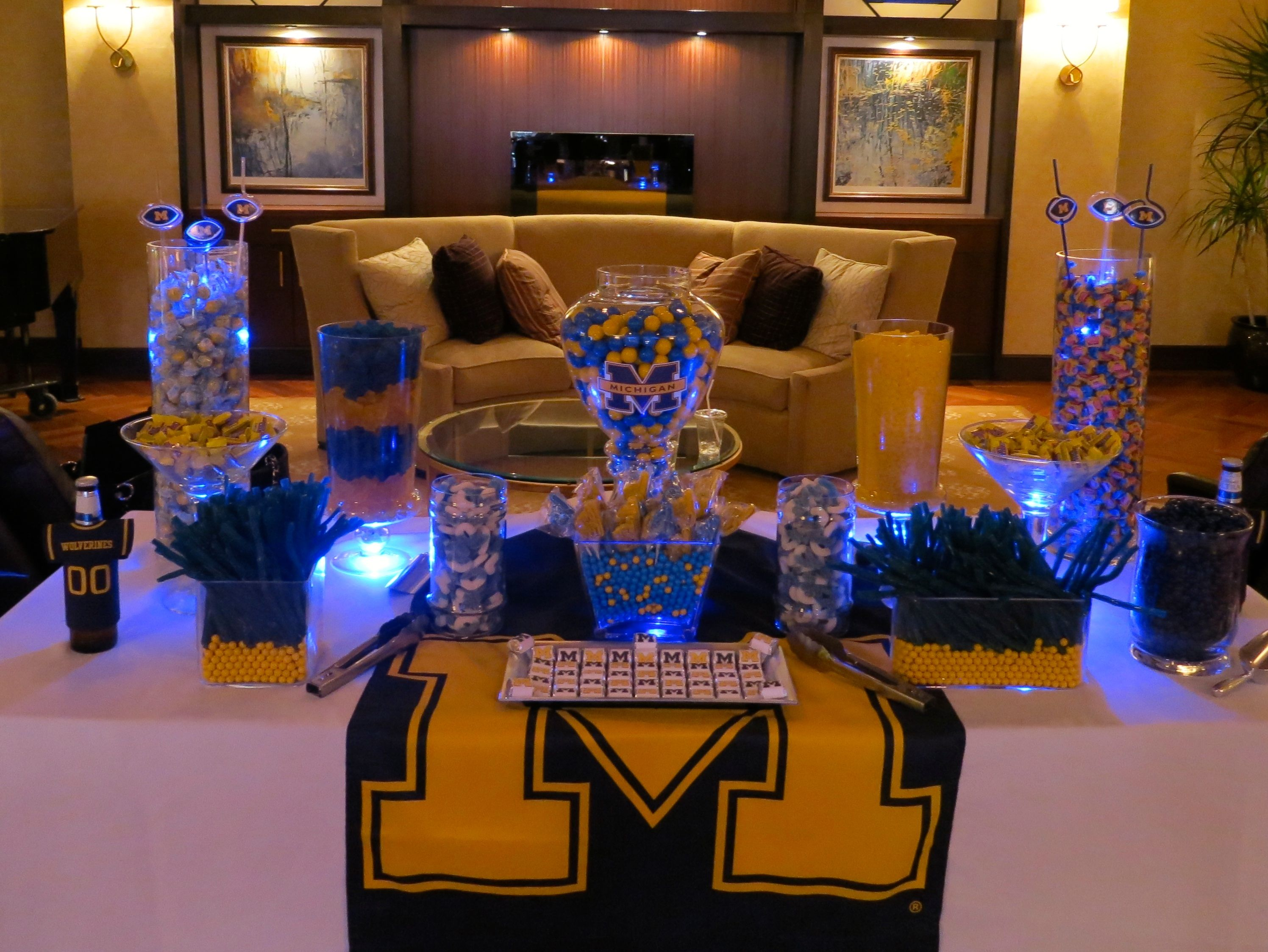 University of michigan christmas ornaments - University Of Michigan Candy Buffet What A Sweet Way To Show Your Spirit