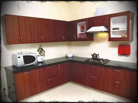 Image result for maroon color kitchen cabinets | Simple ...