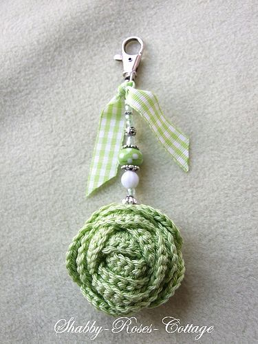 Green Rose ..pretty with the beading