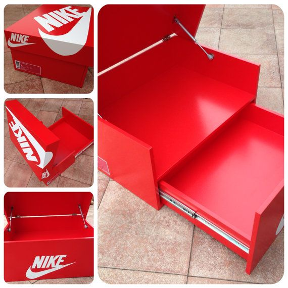 nike schuhschrank sneakerbox shoebox von sneakerboxes4u selber machen pinterest. Black Bedroom Furniture Sets. Home Design Ideas