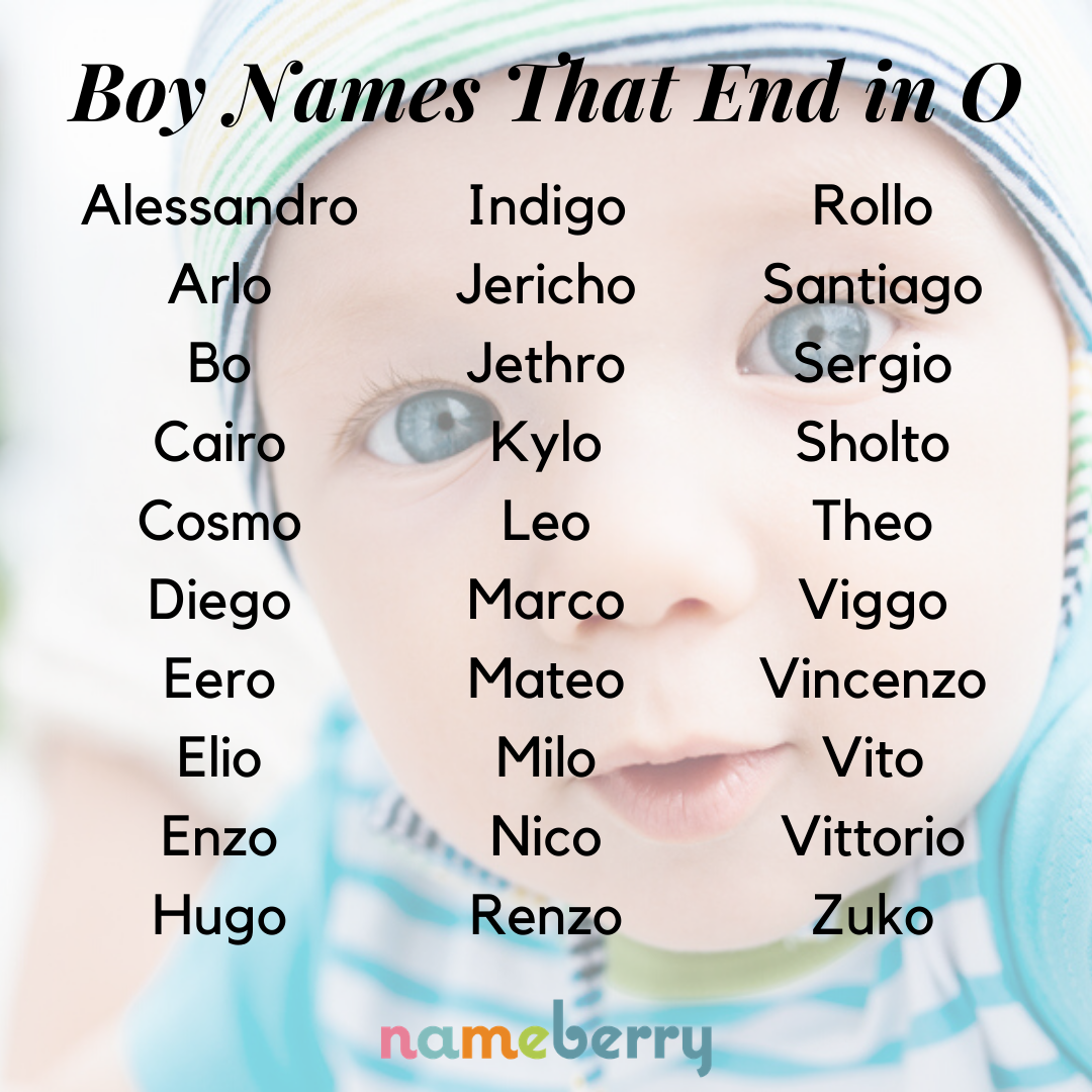 Boy Names Ending in O Suit Every Style - Nameberry - Baby ...