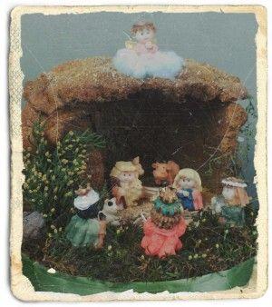 Tu belén en una postal navideña