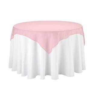 Artofabric Linentablecloth 60 Inch Square Organza Overlay Dusty