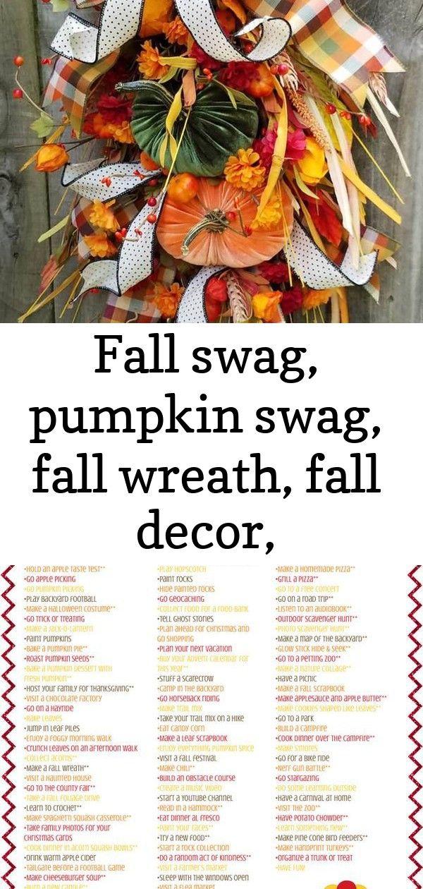 Fall swag, pumpkin swag, fall wreath, fall decor, thanksgiving swag, thanksgiving wreath, farmhous 1
