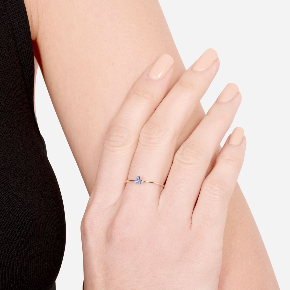 EF Collection Blue Sapphire Trio Stack Ring 14k Gold   Pretty little ...