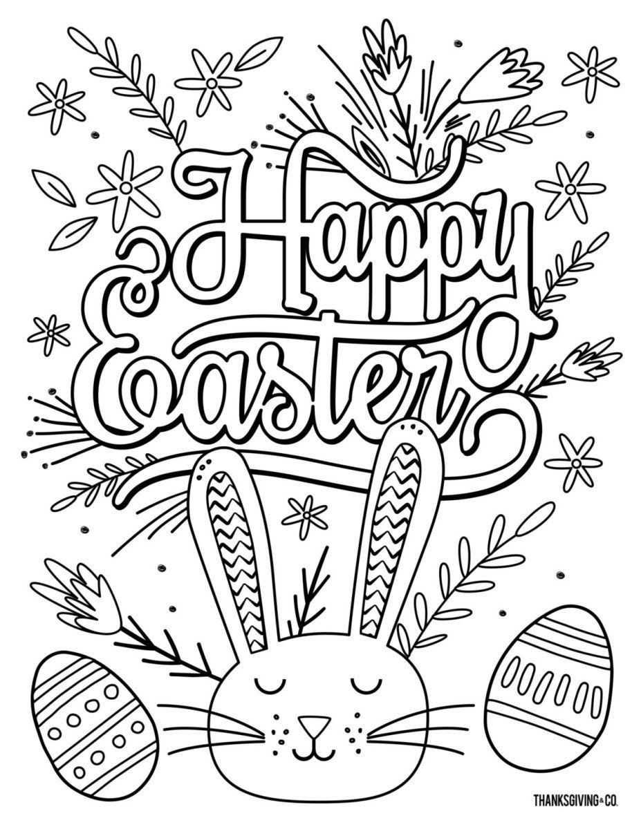 Coloring Page Easter Printable Free Easter Coloring Pages Coloring Page Coloring P Easter Coloring Pages Printable Easter Coloring Pages Easter Coloring Sheets