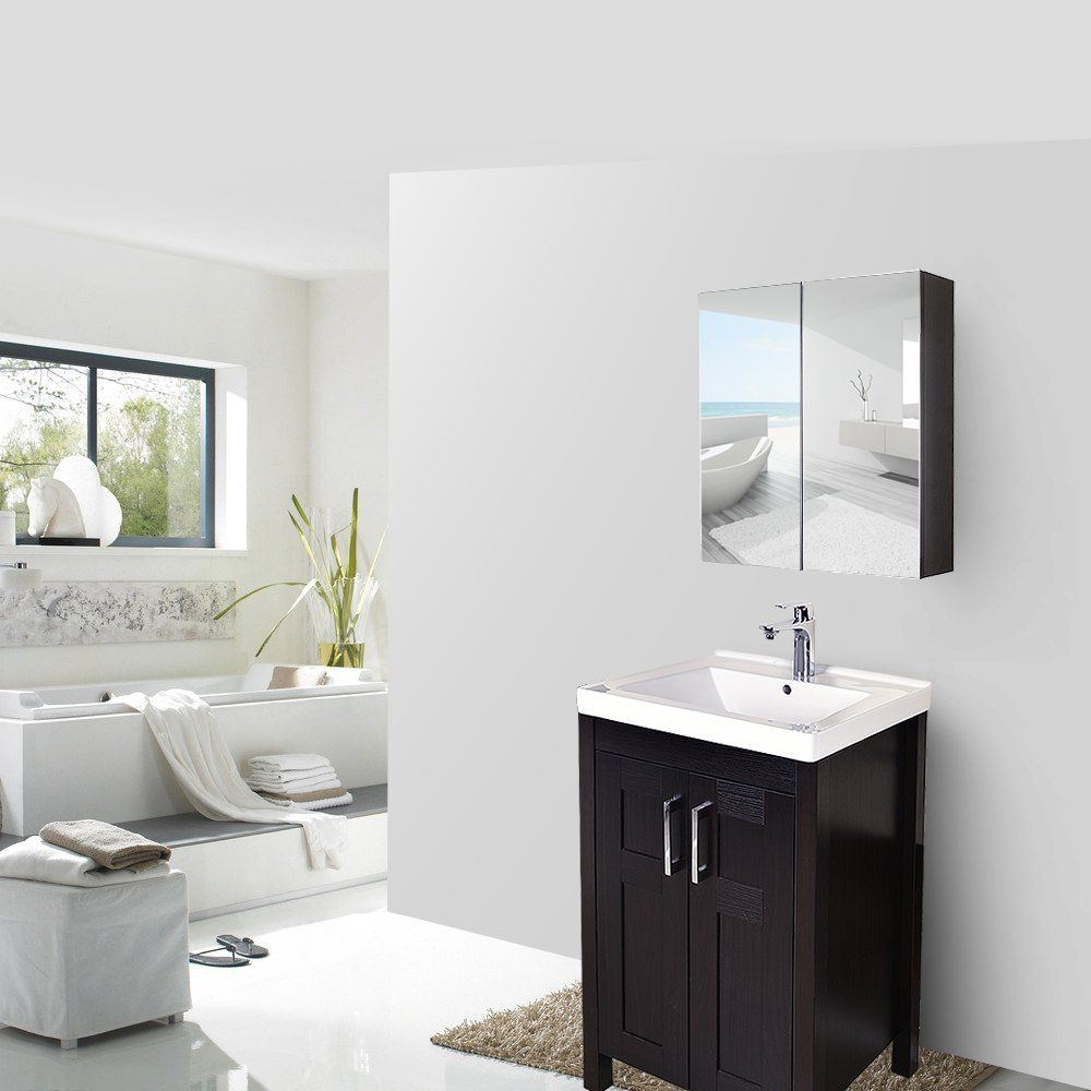 Wall Mirrored Bathroom Medicine Cabinet Bathroom Mirror Bathroom