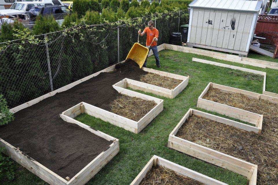 Farm Glance: Norms simple raised bed lasagna garden