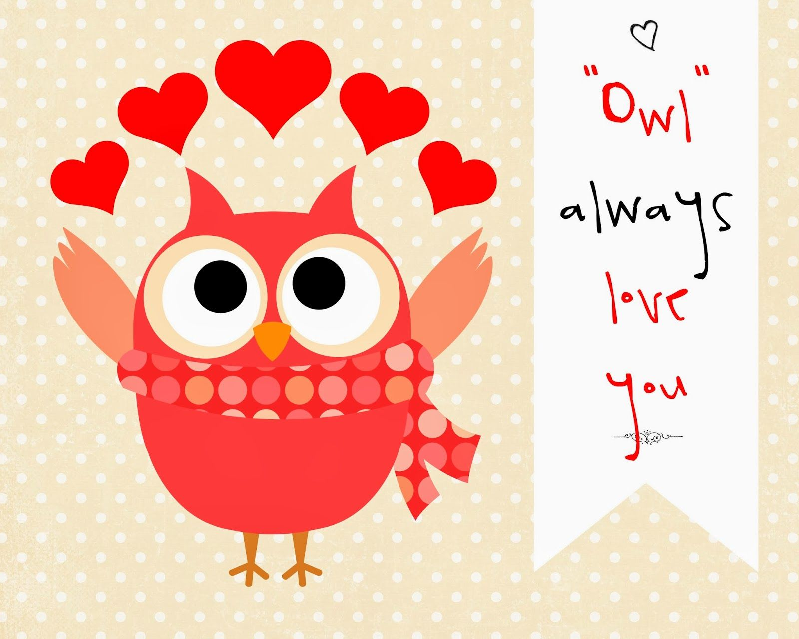 free printables for valentine crafts | owl always love you printable download here fall in love printable ...