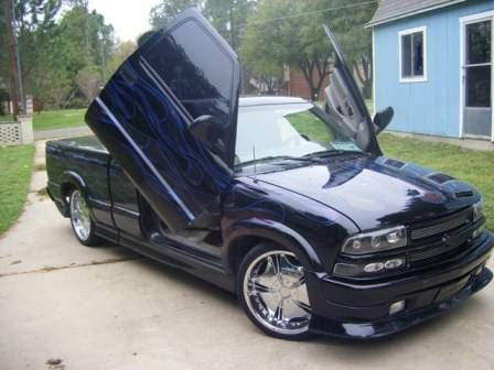 I really like this color on a lowered Chevy S10 lowered Not the