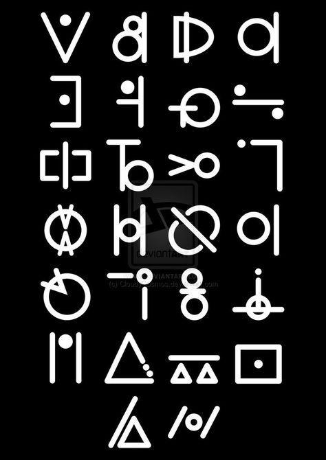 Alien Alphabet By Cloudycosmos On Deviantart Symbols Pinterest