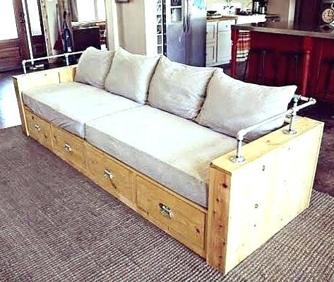 Modern Wood Storage Sofa Diy Storage Couch Diy Furniture Diy Sofa