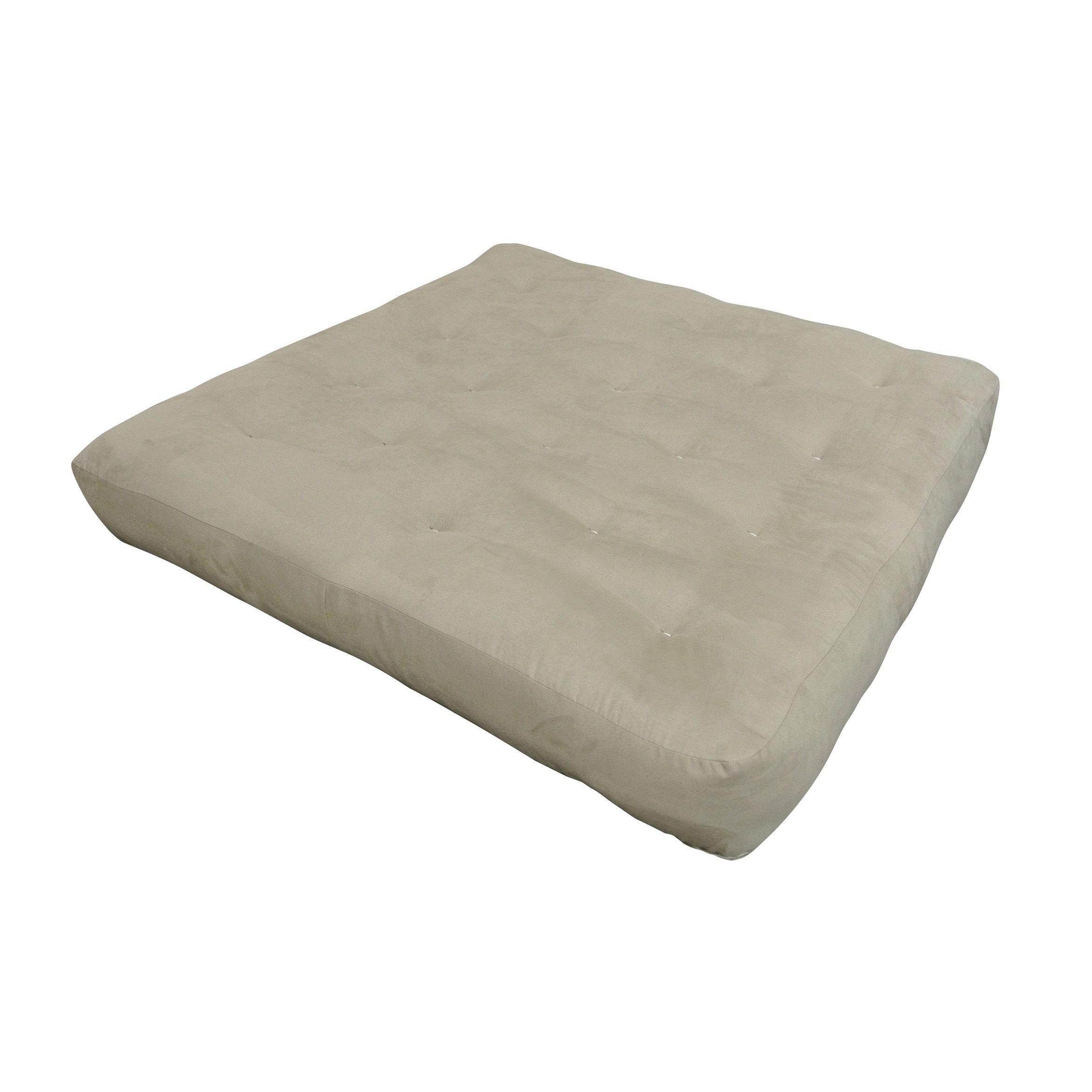 Feathertouch Ii Tan Microfiber Loveseat Futon Mattress Polyester Foam Cotton