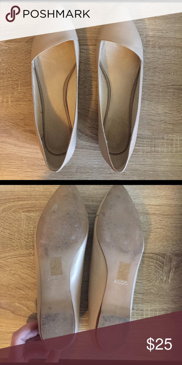 Classic Pointed Toe Beige Aldo Flats Size 11 Lovely pointed toe flats that are super comfy! Perfect for work, but would dress up a casual outfit nicely, as well. Worn once. Aldo Shoes Flats & Loafers