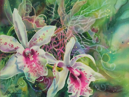 Orchid series 13 by deborah younglao silk painting artful fiber orchid series 13 by deborah younglao silk painting mightylinksfo
