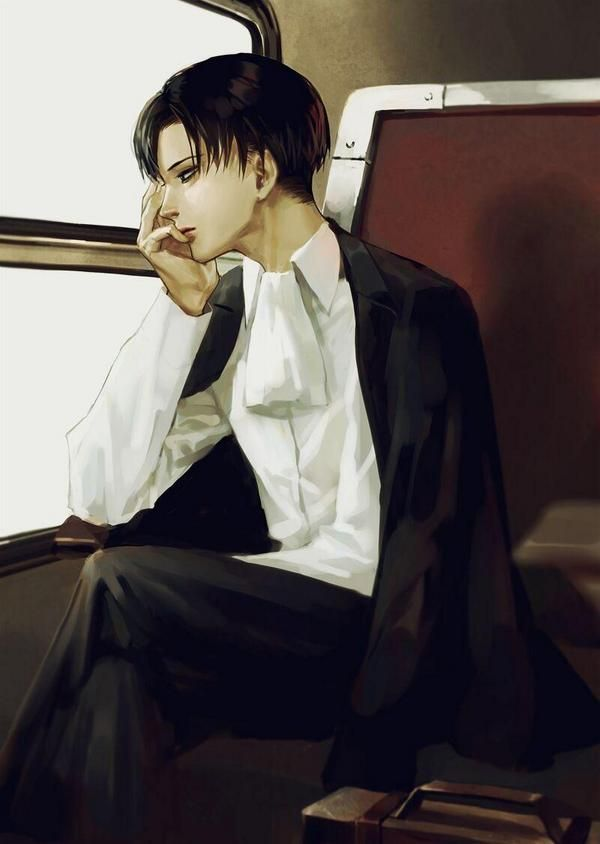 When I am alone, I slip on that black jacket and think of him...   ...and the world around me becomes silent.  #Eruri