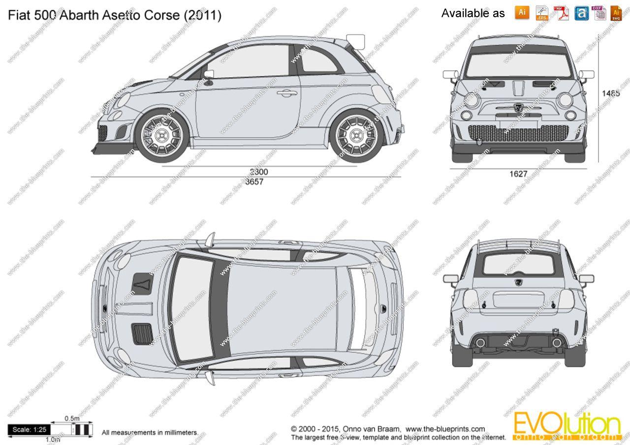 Fiat 500 | Blueprints | Pinterest
